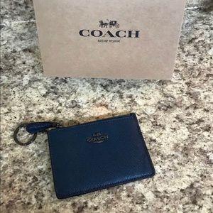 Authentic NWT Coach Skinny Mini ID Keychain Wallet